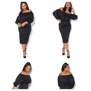 Off shoulder midi dress