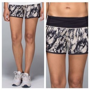 Lululemon NWOT Run Times Short Granite/Black
