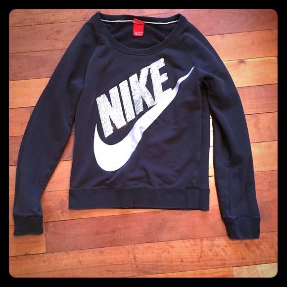 8d0bd6309f76 Nike Sequin Logo Crew Neck Sweatshirt. M 580917469818296390000728