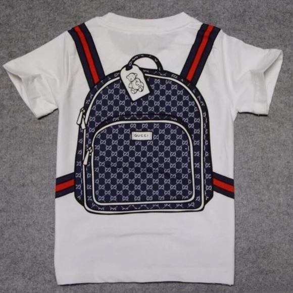 e91c0292f0ac2 Boys GUCCI STYLE white fashion tshirt