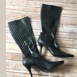 Guess black quilted boots size 8.5
