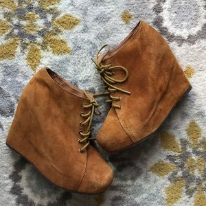 Jeffrey Campbell Shoes - 🎉🎉Jeffrey Campbell 99-Tie Brown Booties