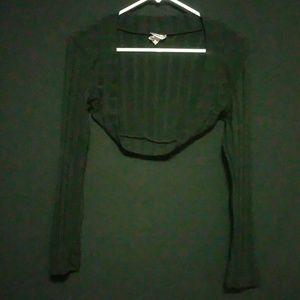rave Tops - Black medium rave half jacket