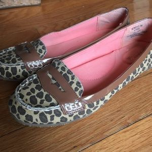 0545eb96eba Sperry Shoes - Sperry Canvas Leopard Print Sperry Penny Loafer
