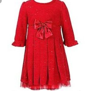 Sweet Heart Rose Other - Girls Red sweater sparkle dress