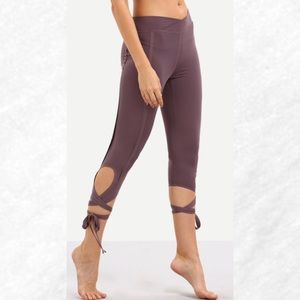 Pants - Purple Ballerina Tie Leggings