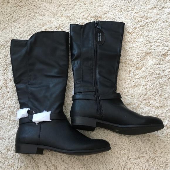 e9fb74a34e87 New in box Style Co Black Wide Calf Boots Size 7.5
