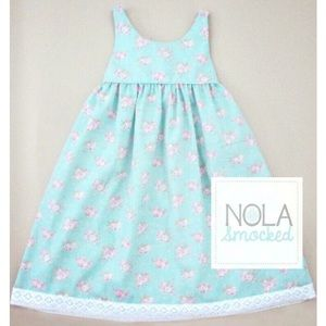 """NOLA Smocked Other - 💗""""Shabby Chic"""" floral with lace dress"""