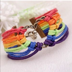 Colored heart bracelet Last one 