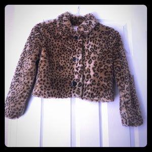 Gymboree Other - Gymboree Glamour fur animal print jacket 💕