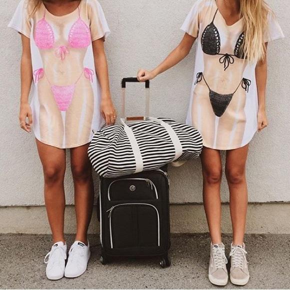 f3113cdab4 Tops | Bikini Body T Shirt Dress Cover Up | Poshmark