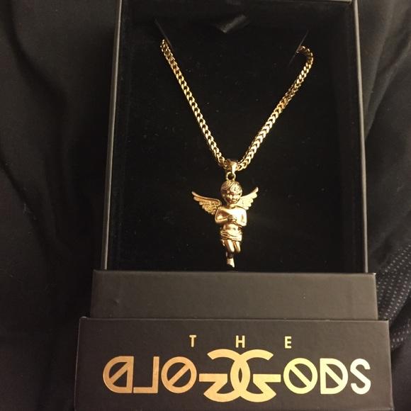 Jewelry The Gold Gods Angel Piece Necklace Poshmark
