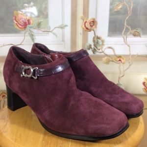 AJ Valenci Shoes - AJ Valenci Burgundy Suede Leather Ankle Boots-New