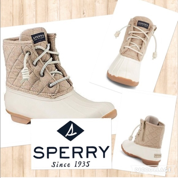 separation shoes 69855 d7ef3 Sperry Shoes - ☔️Sperry Saltwater Quilted Duck Boot Oyster sz 10