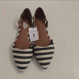 Merona Shoes - Pointy toe flats with stripes