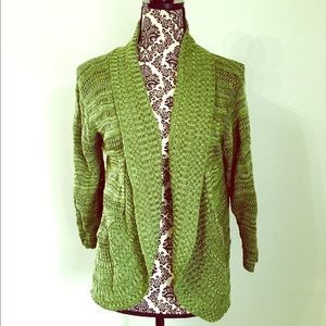 a knitch above Sweaters - A knitch Above Olive Green Knitted Sweater!