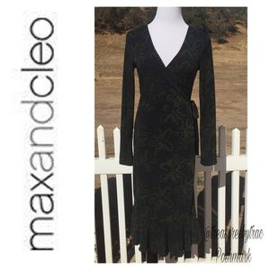 Max & Cleo Dresses & Skirts - MAX & CLEO GREEN WRAP DRESS