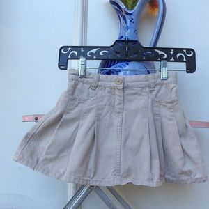 Nordstrom Baby Other - Sweet Ivy Beige Pleated Denim Girl's size 6 Skirt