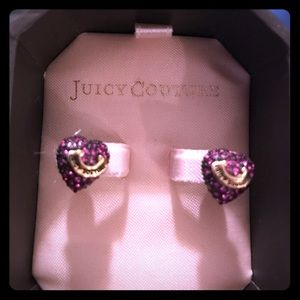 Juicy Couture Purple Stud Heart Earrings