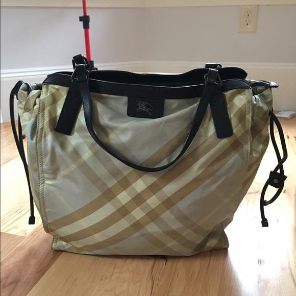 1fec8a2a4c3d Burberry Handbags - SALE! Authentic Large Nylon plaid Burberry tote