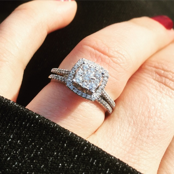 51 off zales jewelry wedding band and engagement ring for Where is zales jewelry