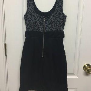 Papaya Dresses - Black and gray leopard dress
