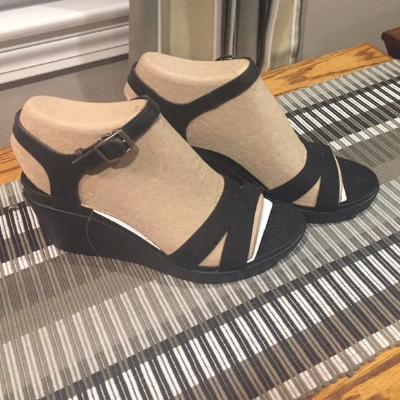 7d32d97c9b4 Crocs Leigh II ankle strap wedge
