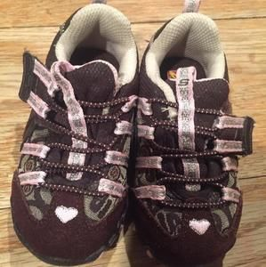 Other - Brown and Pink Skechers