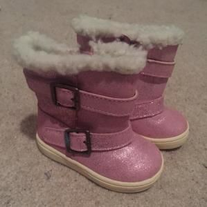 Other - Pink Faux Fur Boots