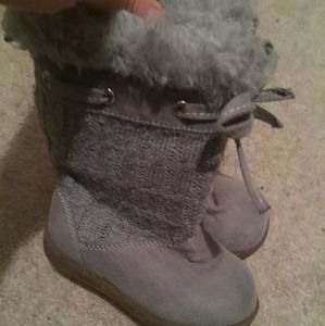 Other - Grey Faux Fur Boots