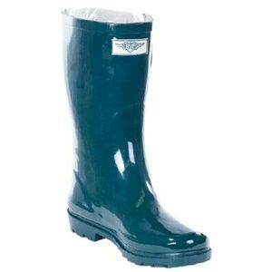 "forever young Shoes - Women's Forest Green Rubber Rainboots 11"" RB3106"
