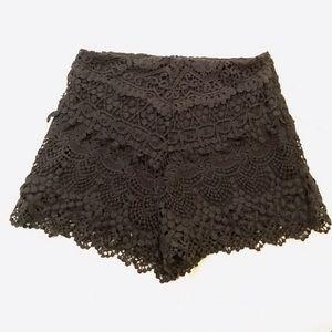 UO crochet shorts