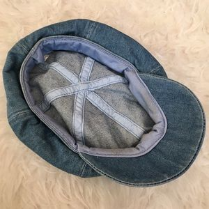 Vintage Accessories - 70s   Denim Newsboy Hat 83c75acdcf7