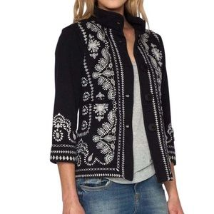 Johnny Was Jackets & Blazers - JOHNNY WAS Embroidered Jacket Intricate Spring Top