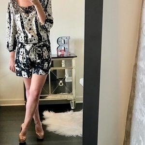 Anna Sui Other - Anna Sui Constellation Print Short Romper Playsuit