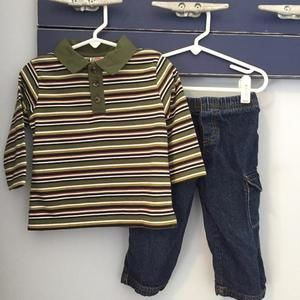 Other - Boys' collared shirt & jeans