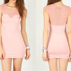 Motel Rocks Dresses & Skirts - Pink mini dress- Kendall Jenner seen wearing!