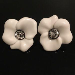 Kenneth Jay Lane Jewelry - Reduced Again ✂ KJL Crystal Flower Earrings NWOT
