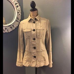 BB Dakota Jackets & Blazers - Tan with brown top stitch collared jacket BBDakota