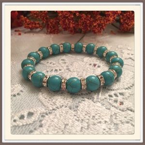 Turquoise and Christal Bracelet.
