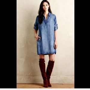 Anthropologie Dresses - Anthropologie Cloth & Stone Denim Tunic Dress