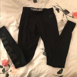 Nike Black JUST DO IT Leggings