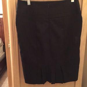 Pencil Skirt with Pleated Back Hem