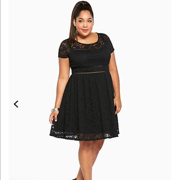 21% off torrid Dresses & Skirts - Torrid Lace Scoop Skater Dress ...