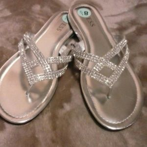 Guess  Shoes - Guess Silver Sandals New