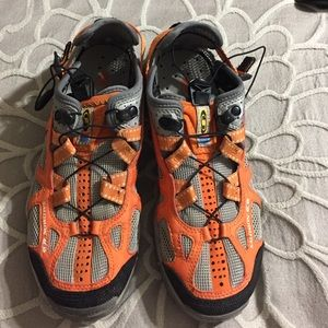 Salomon Shoes - Orange and Gray Salomon Hiking Shoes