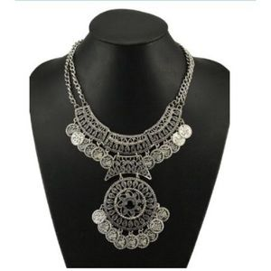 Boho Ornate Statement Coin Necklace