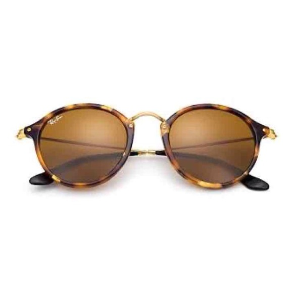 Ray-Ban Accessories   Ray Ban Round Fleck Brown Classic B15   Poshmark f71f7a5150