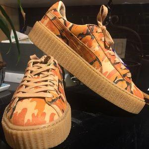 c9fe140cbe1 Puma Shoes - Rihanna FENTY Puma Camo Creepers size 9