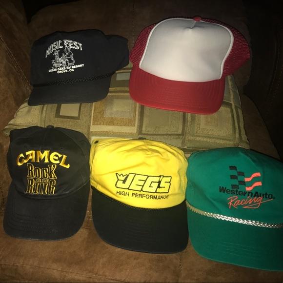 b80fc8ee4 Vintage Hat Lot Trucker Music Racing Camel Dad Hat